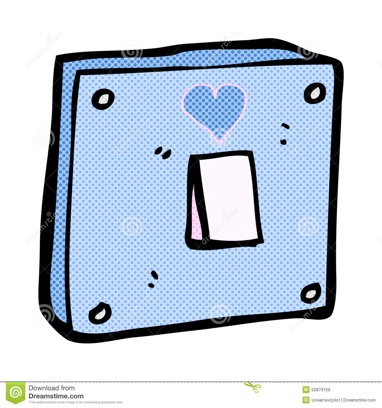 Light Switch Off Clipart Comic Cartoon Turn Me On Light Switch Stock Illustration