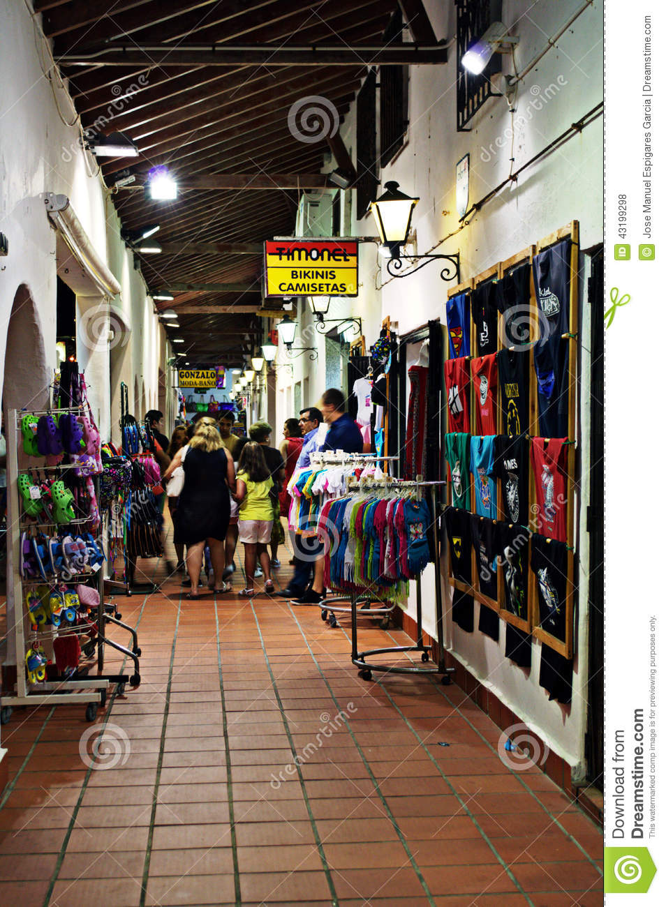 Salon Manga Murcia Commercial Aisle At Night 163 Editorial Stock Photo Image Of