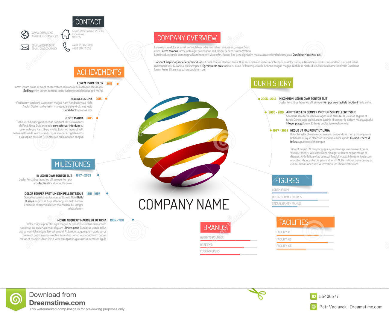 Company Profile Templates Samples In Word Project Company Overview Template Stock Illustration Image 55406577