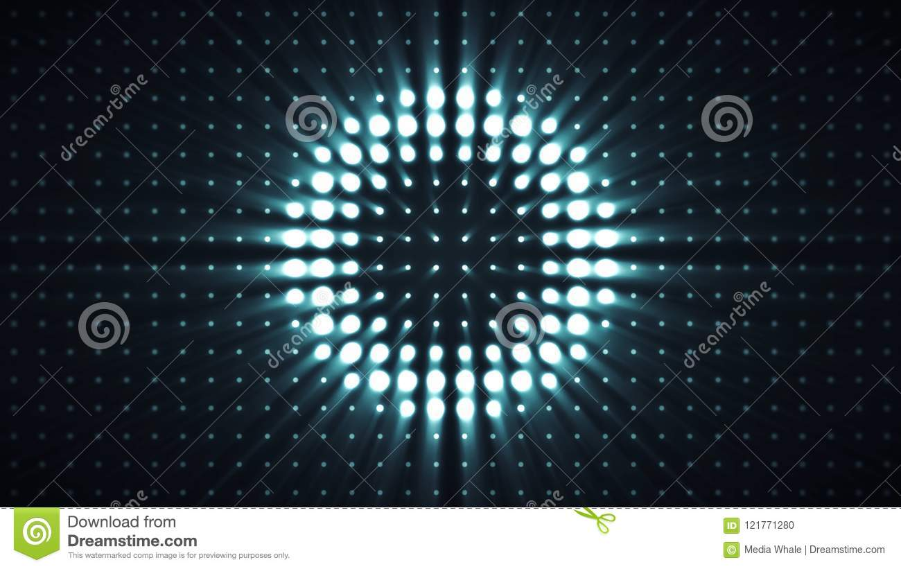Glowing Bulb Animation Spotlight Of Shining On Stage Background Cartoon Vector