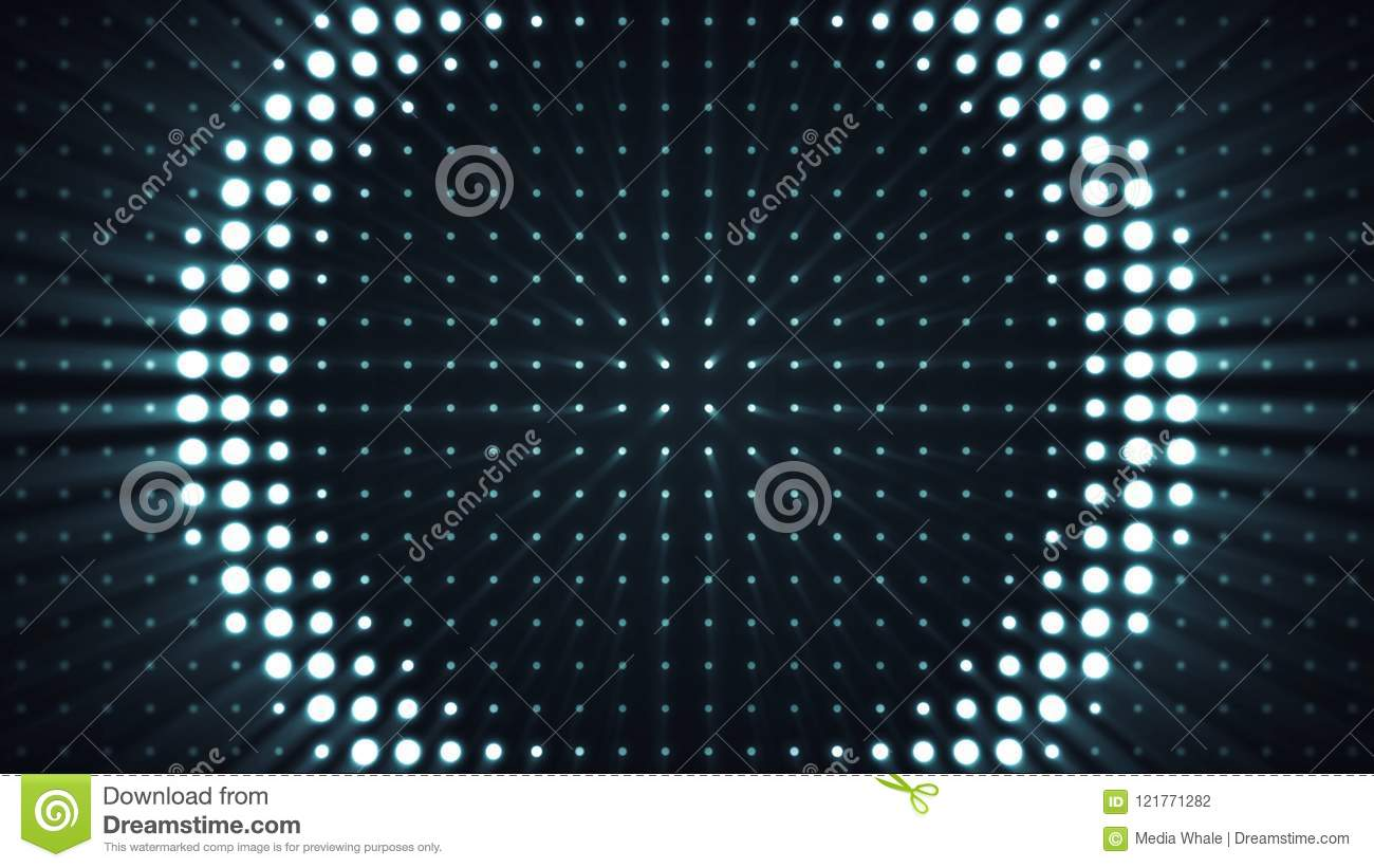 Glowing Bulb Animation Concert Elements Panel With The Led Bulb Abstract