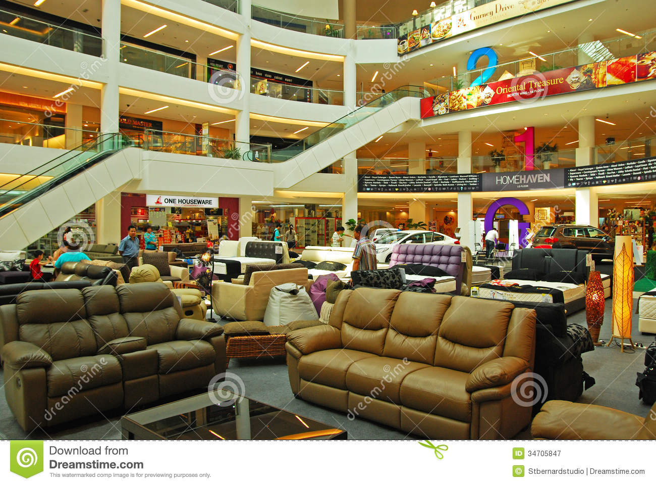 The Furniture Mall Concourse In Shopping Mall Used For Furniture And