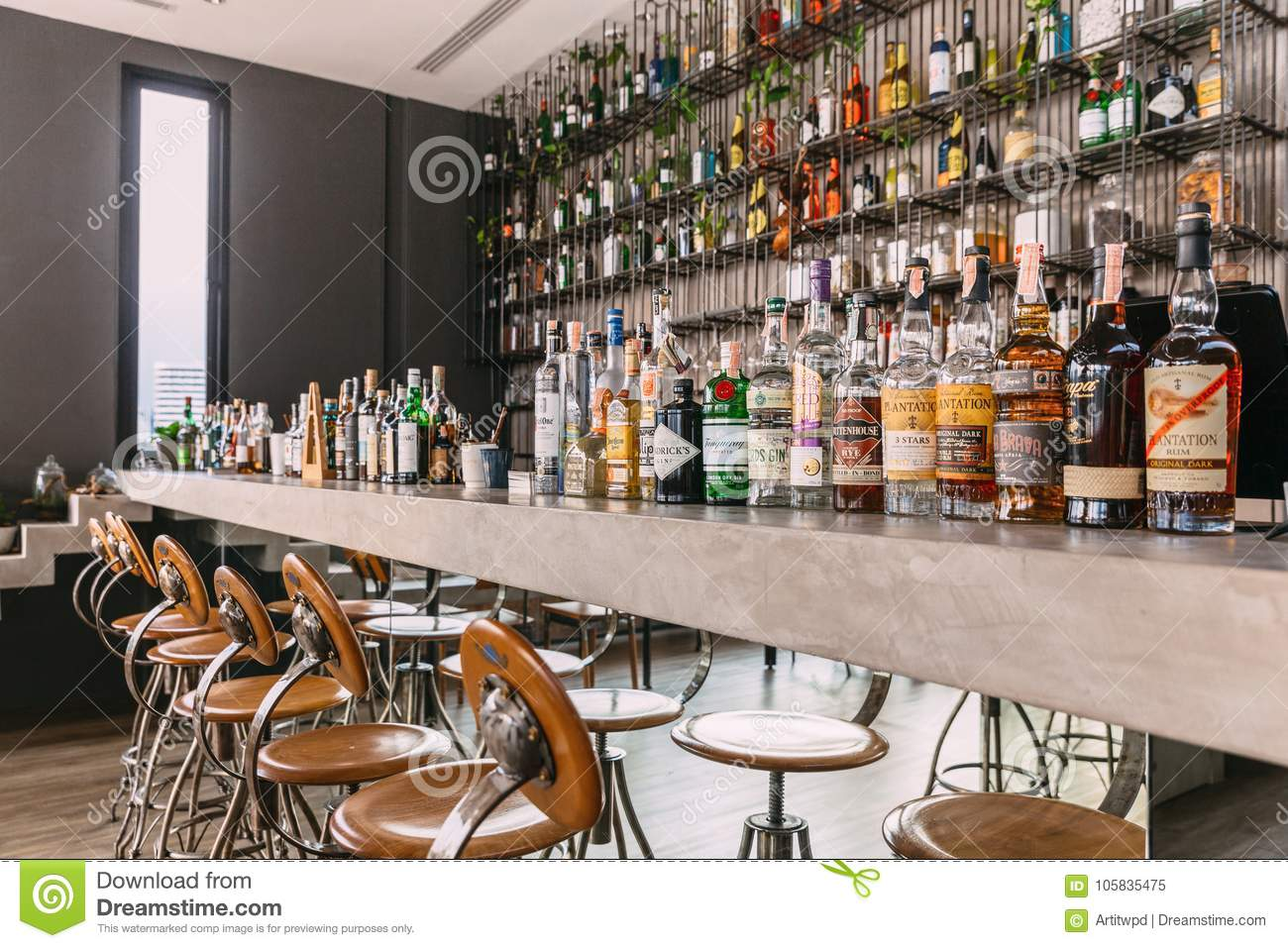 Stand With Wine And Liquors Editorial Image