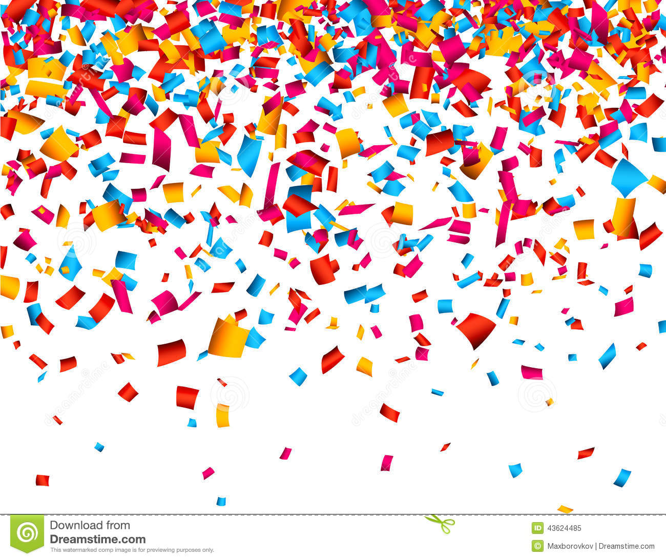 Sweet Home 3d Wallpaper Free Download Confetti Celebration Background Stock Vector Image