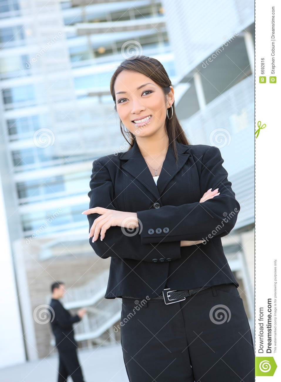 Stylish Hair Style Of Man Confident Asian Business Woman Stock Photo Image 6692816