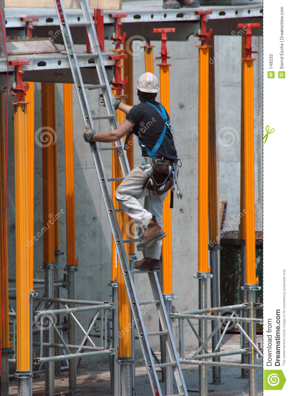 Construction Ladder Stock Image Image Of Construction