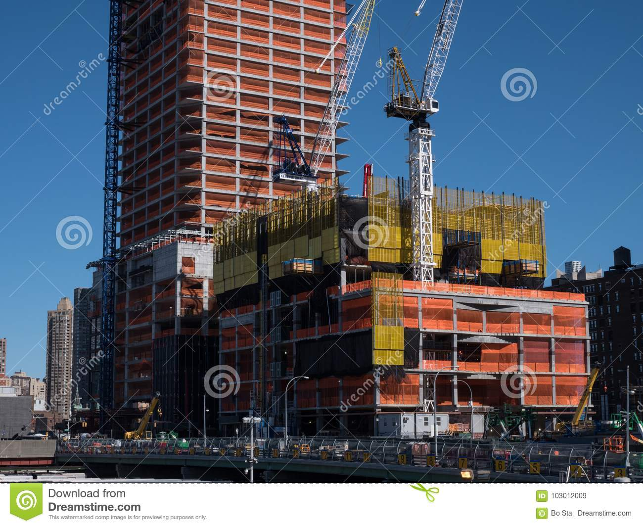 New York Industrial Works Construction Site In New York Editorial Stock Image