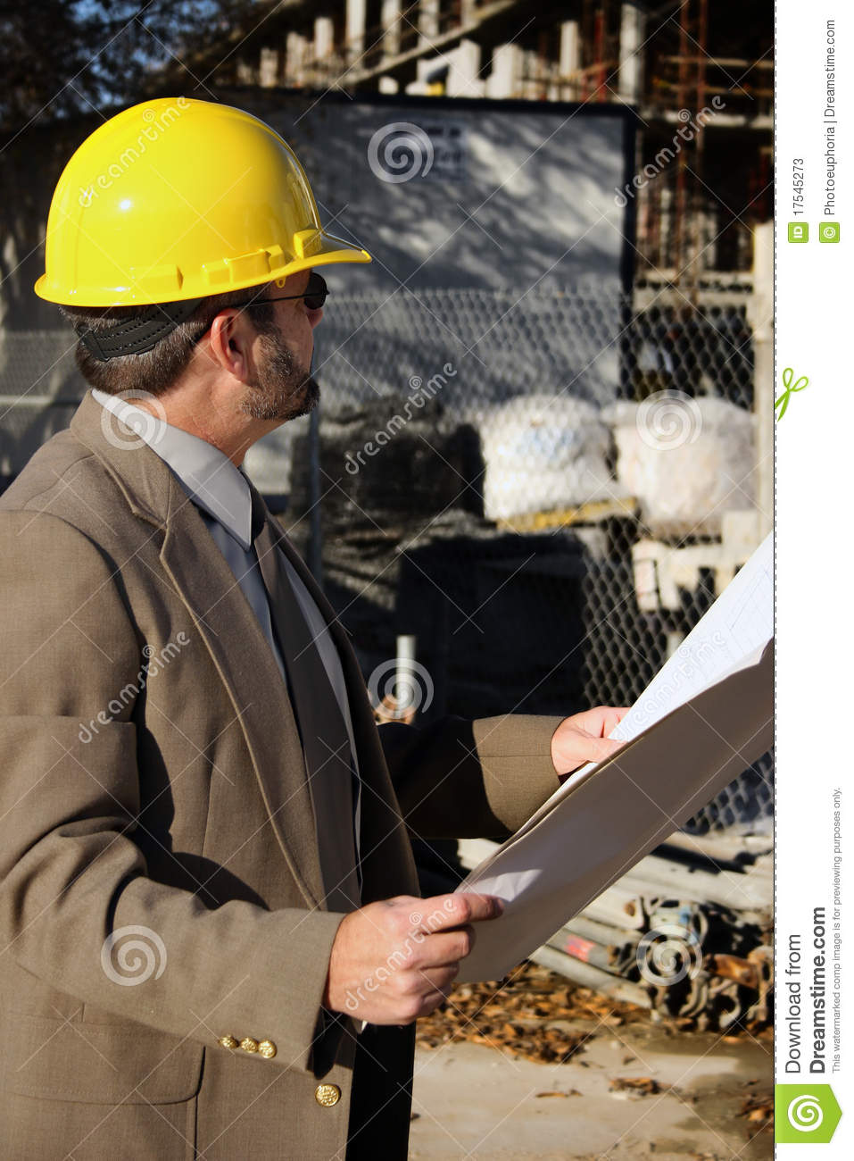 Job Project Engineer Construction Worker Foreman Stock Photos - Image: 17545273