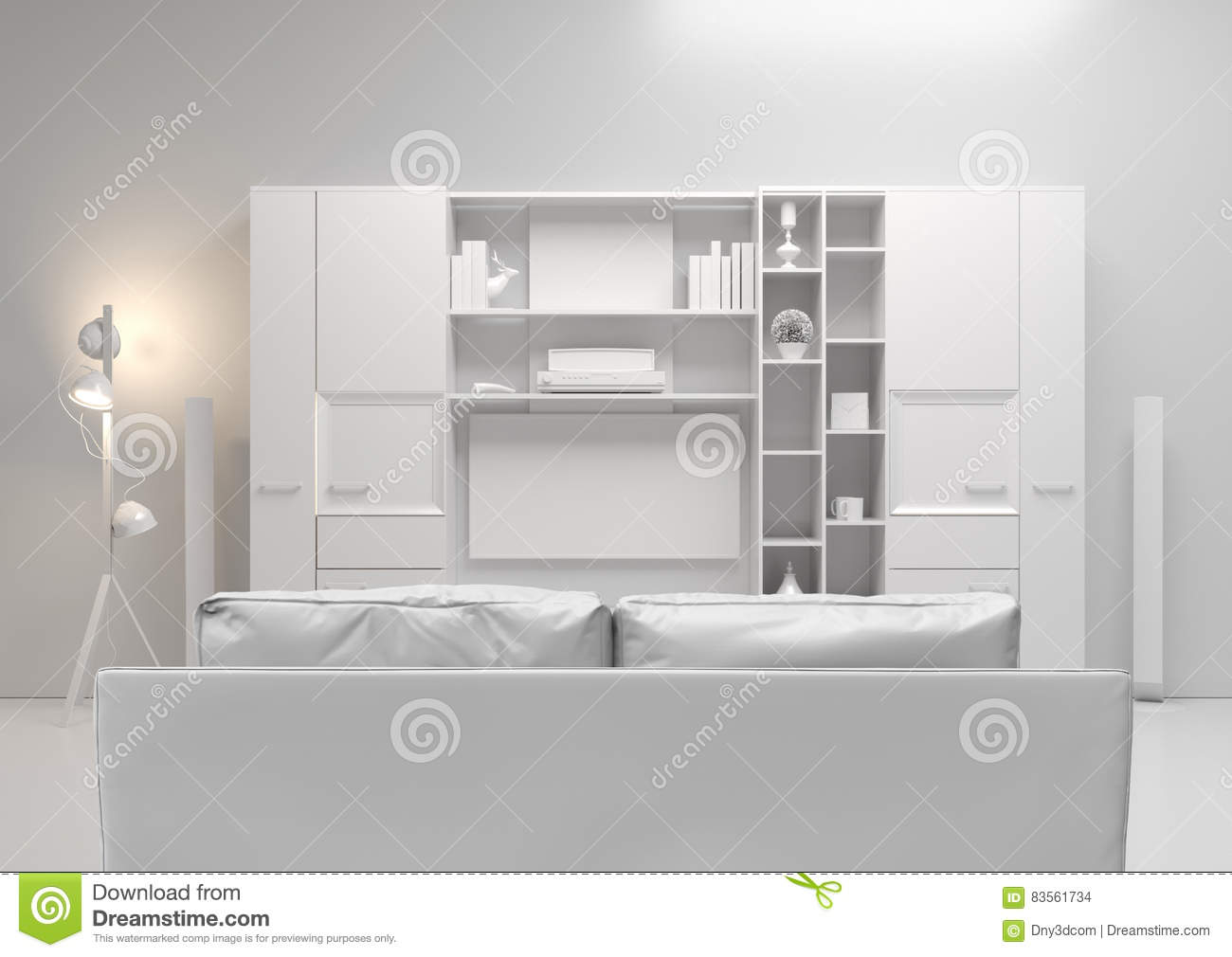 Wohnzimmer Soundsystem Tv And Sound System At Modern Living Room Royalty Free