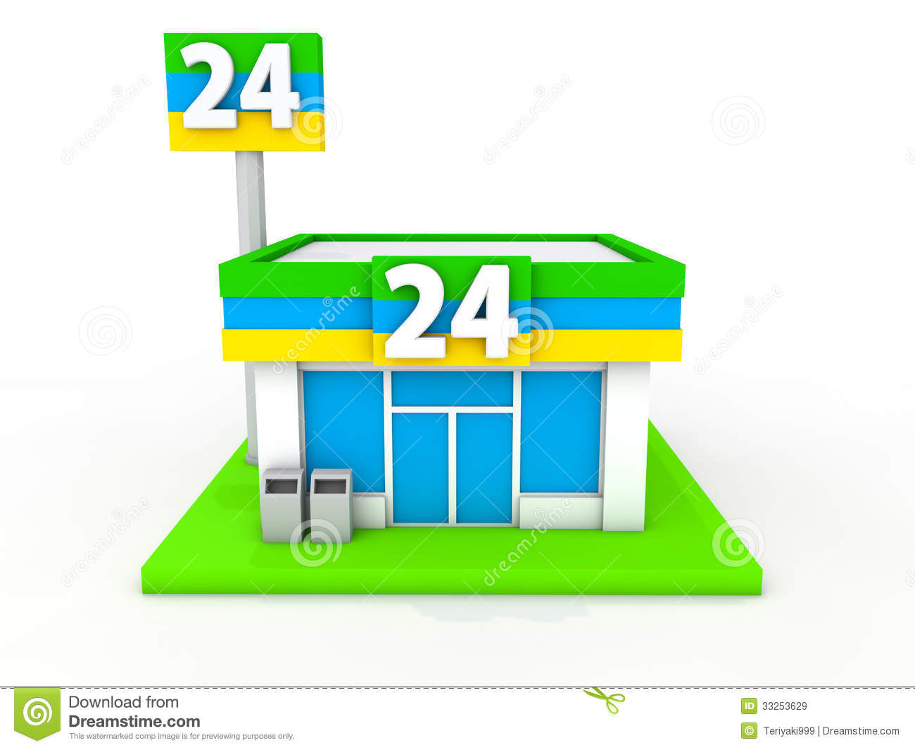 Denah Minimarket Convenience Store Stock Illustration Illustration Of