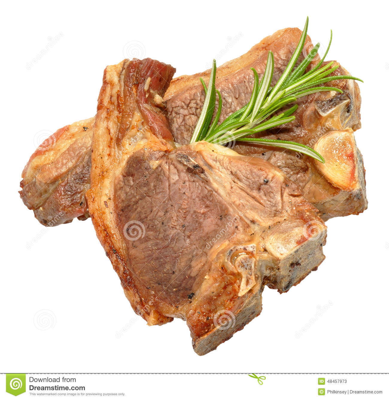 Lamb Meat Cooked Cooked Lamb Chops Stock Image Image Of Herb Bones