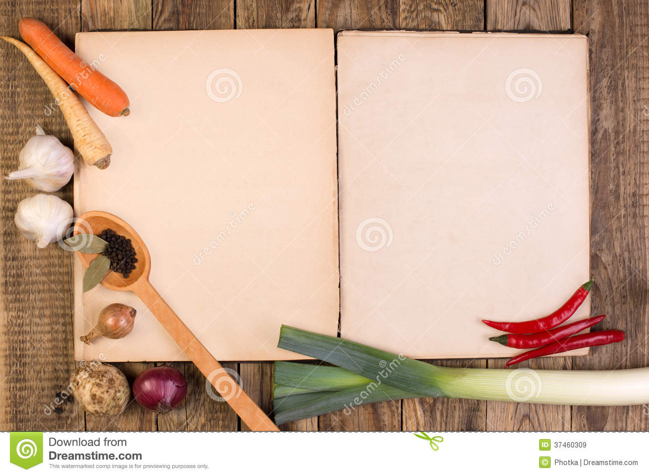 Fall Harvest Wallpaper Images Cookery Book On Wooden Background Royalty Free Stock