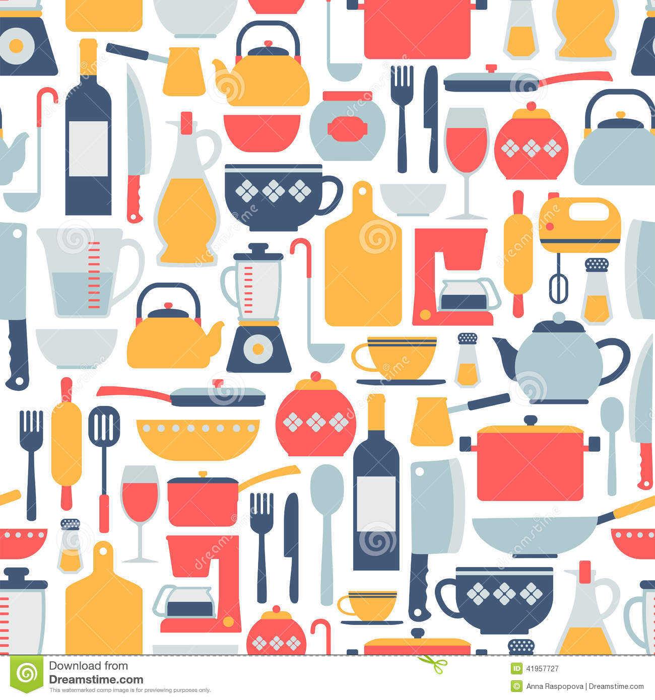 Cartoon Animation Wallpaper Free Download Cooking Pattern Stock Vector Image 41957727