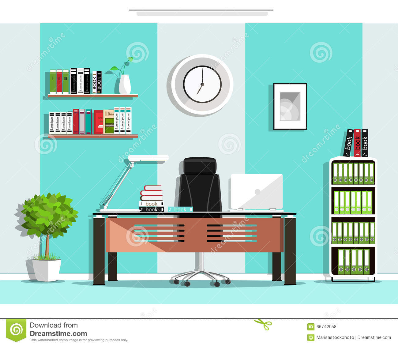 Egonomics Libro Cool Graphic Office Room Interior Design With Furniture