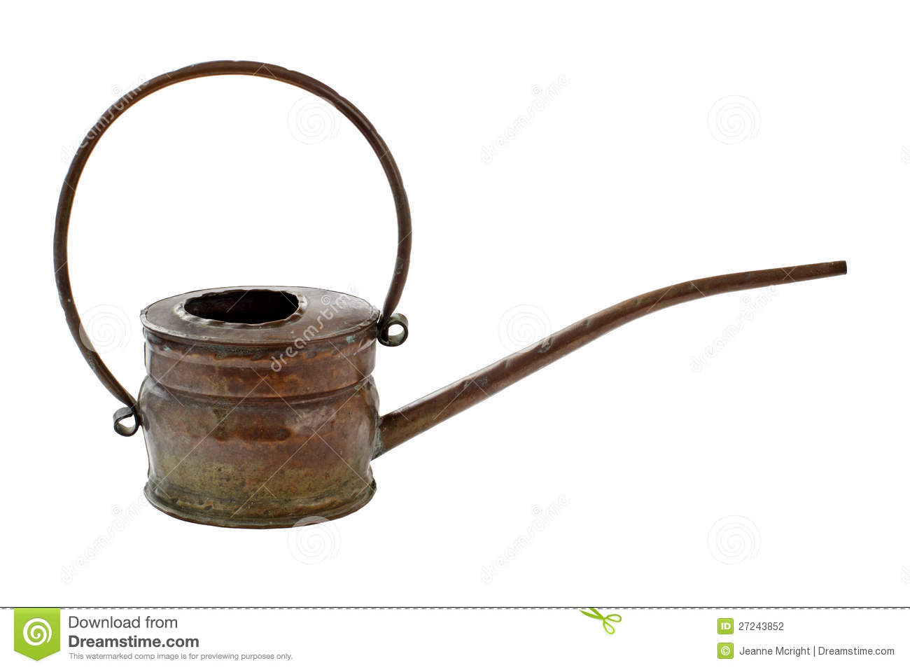 Watering Cans With Long Spouts Copper Watering Can With Long Thin Spout Stock Photography
