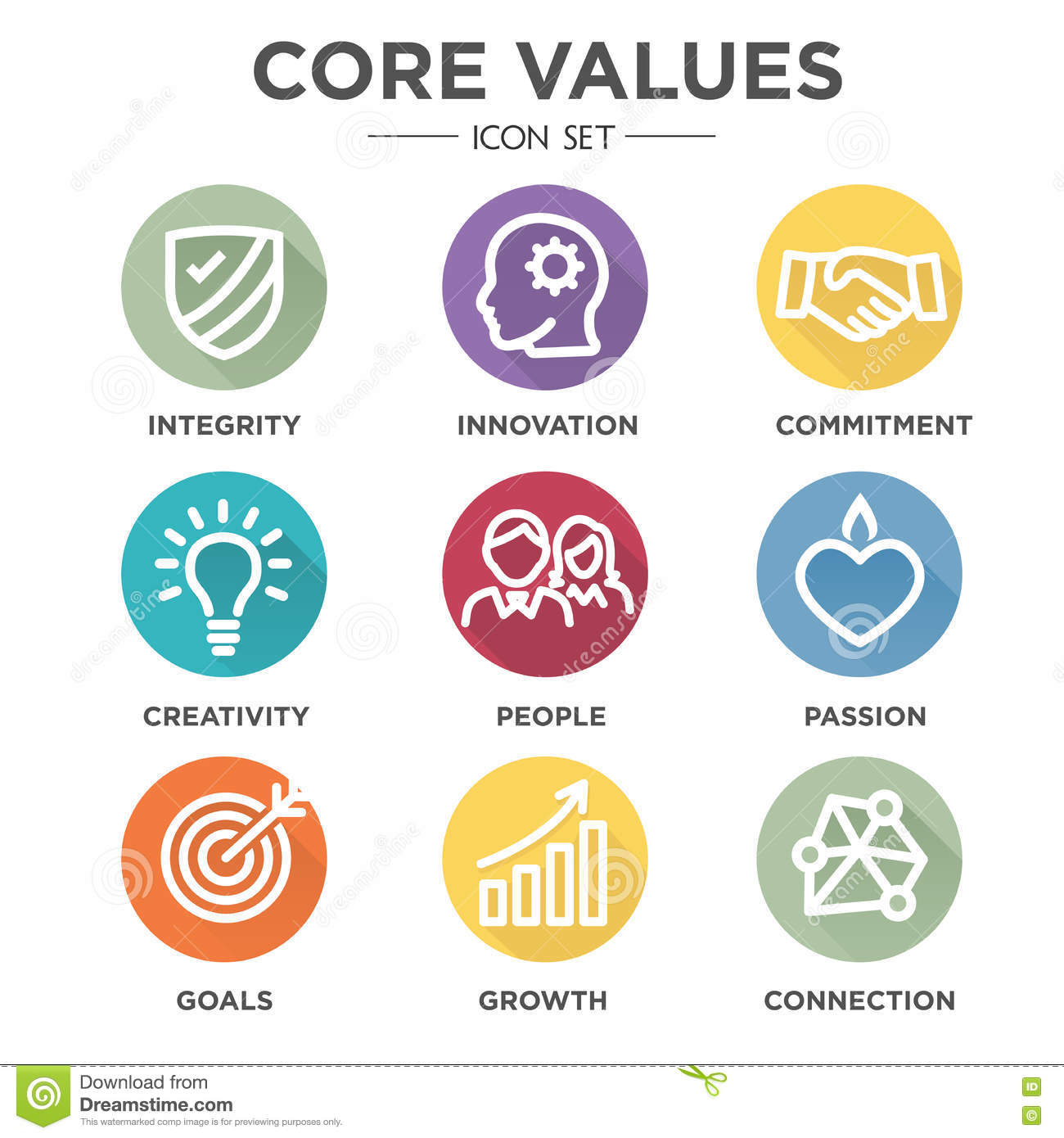 Vision And Mission Statements Auto Electrical Wiring Diagram Club Car Gcor Core Values Icons Stock Image Of Honor Icon Focus