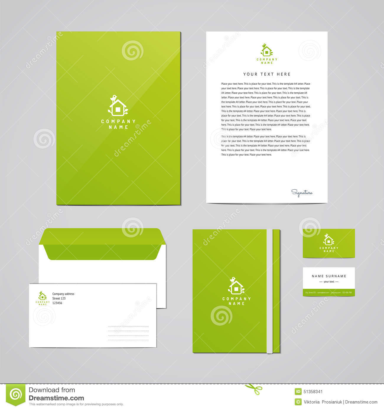 Corporate Graphic Design Corporate Identity Eco Design Template Documentation For Business