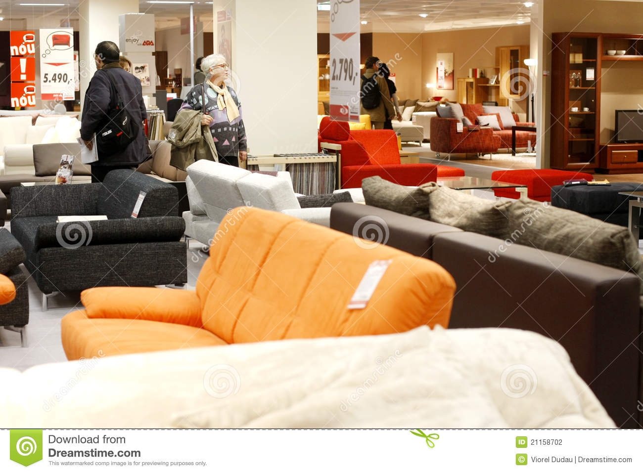 Kika Big Sofa Couches And Sofas Store Editorial Photography Image