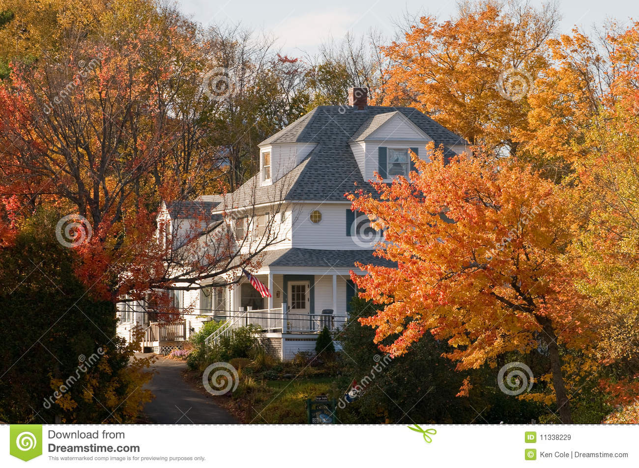 Free Wallpaper Fall Colours Country Home In Autumn Stock Image Image Of Rural Fall