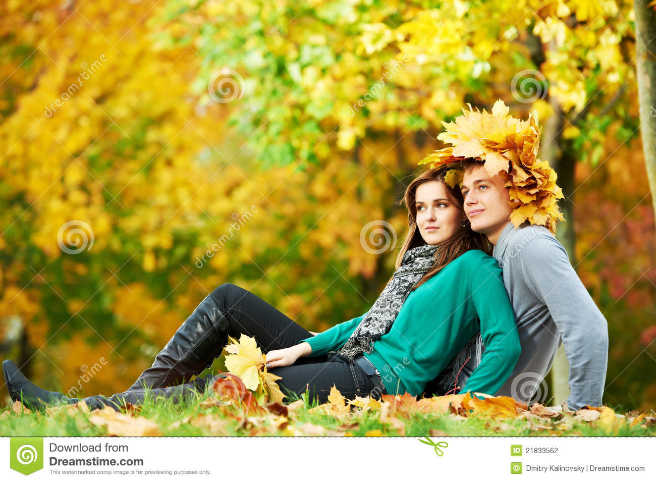 Cute Baby Couple Hd Wallpaper Couple At Autumn Outdoors Stock Photo Image Of Attractive