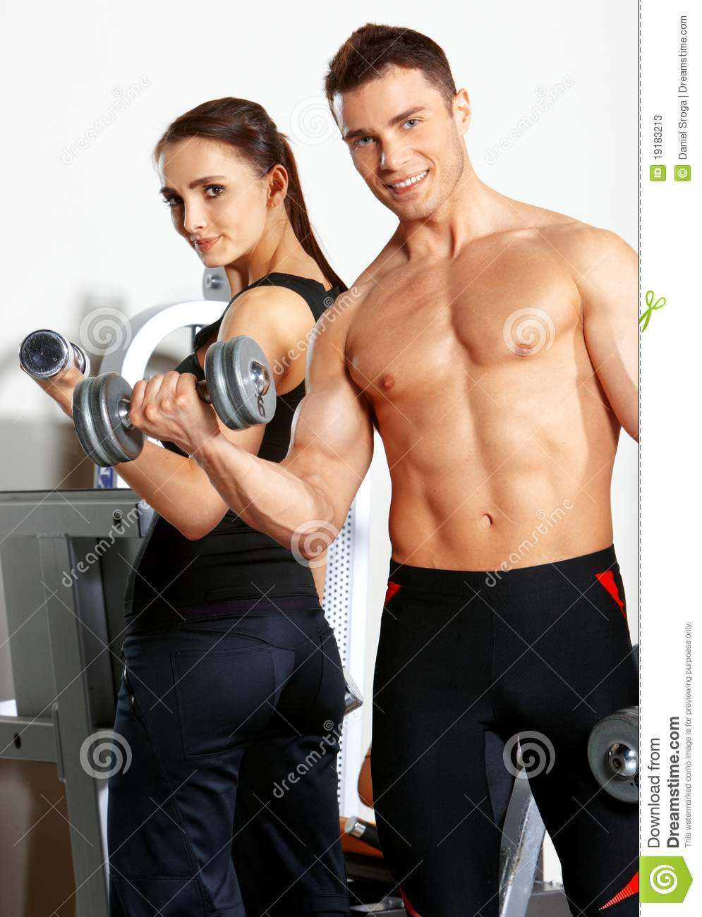 Physical Fitness Gym Business Plan Bplanscouk Couple At The Gym Stock Photos Image 19183213