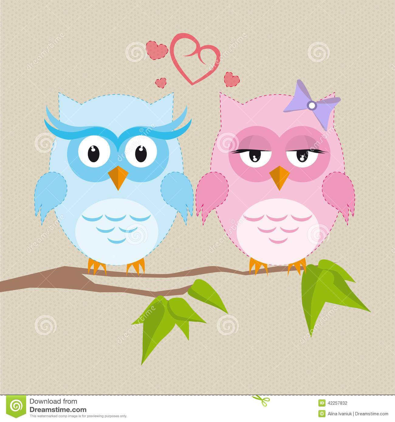 Girl Boy Love Birds Wallpaper Download Couple Of Owls In Love Stock Vector Image 42257832