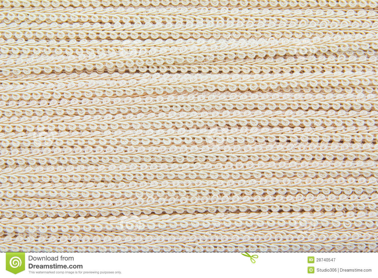 Cream lace fabric texture royalty free stock photography