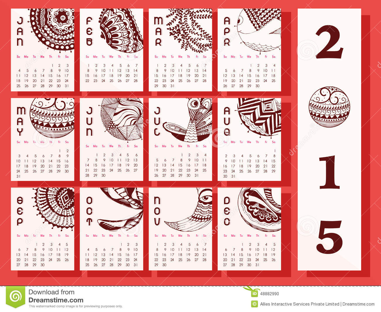 Calendar Date Vector Free Date Vectors Photos And Psd Files Free Download Creative Calendar Of New Year 2015 Stock Illustration