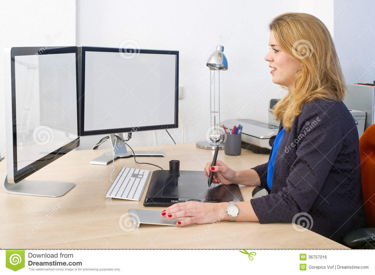 Creative Computer Desk Creative Office Work Royalty Free Stock Image Image