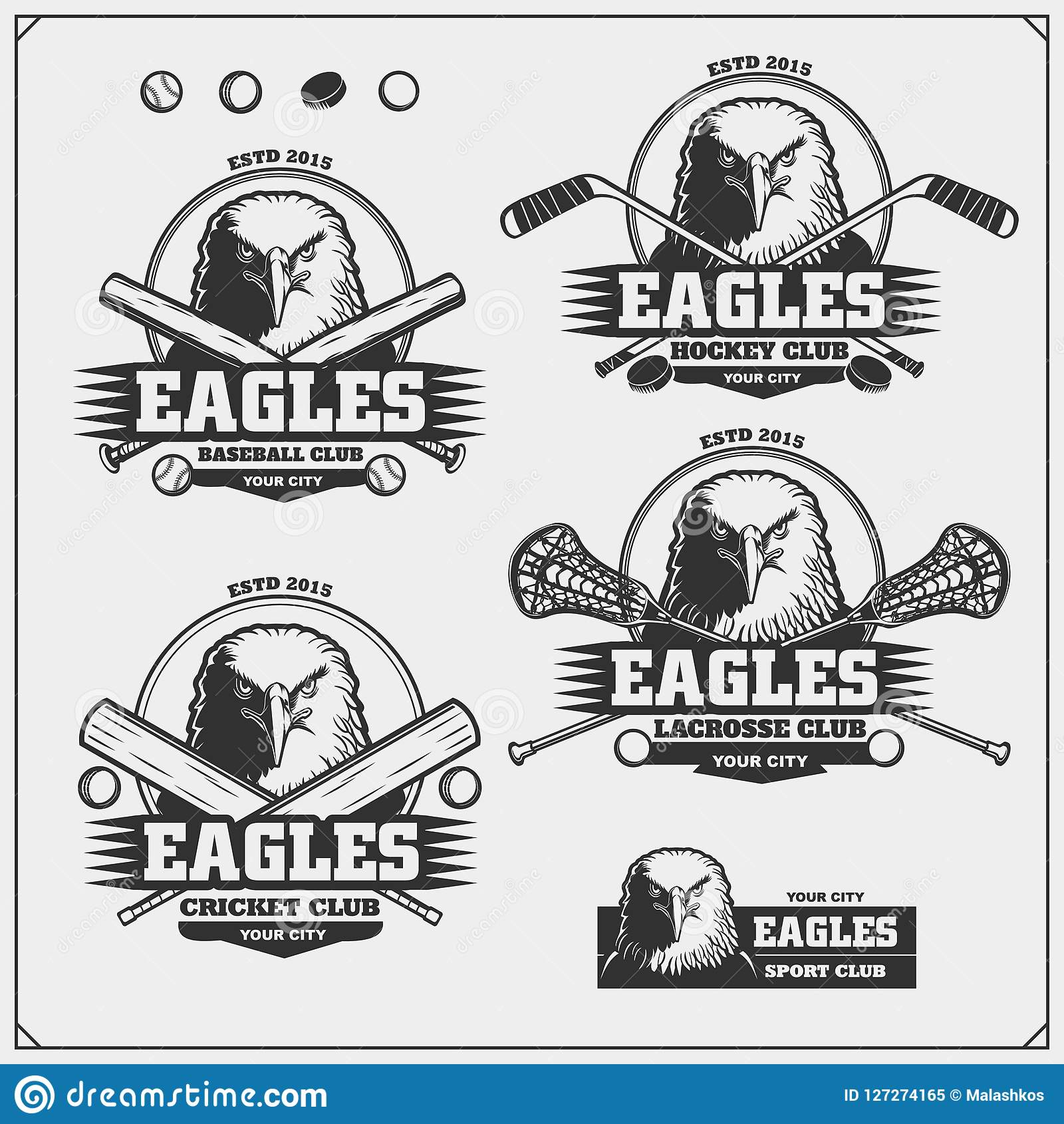 Hockey Logos Cricket Baseball Lacrosse And Hockey Logos And Labels Sport