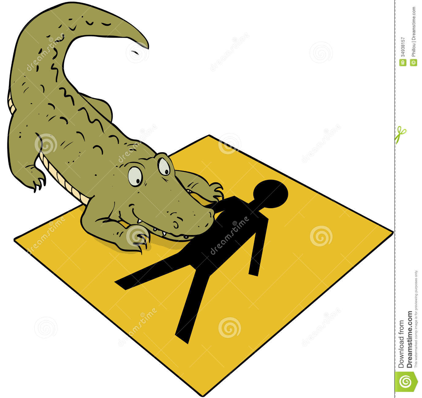 Alligator Clip Symbol Crocodile Beware Sign Royalty Free Stock Photography