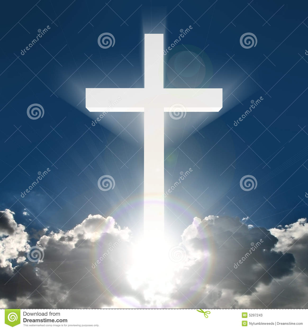 Jesus Christ 3d Wallpaper Croix 3d Blanche En Ciel Illustration Stock Image Du