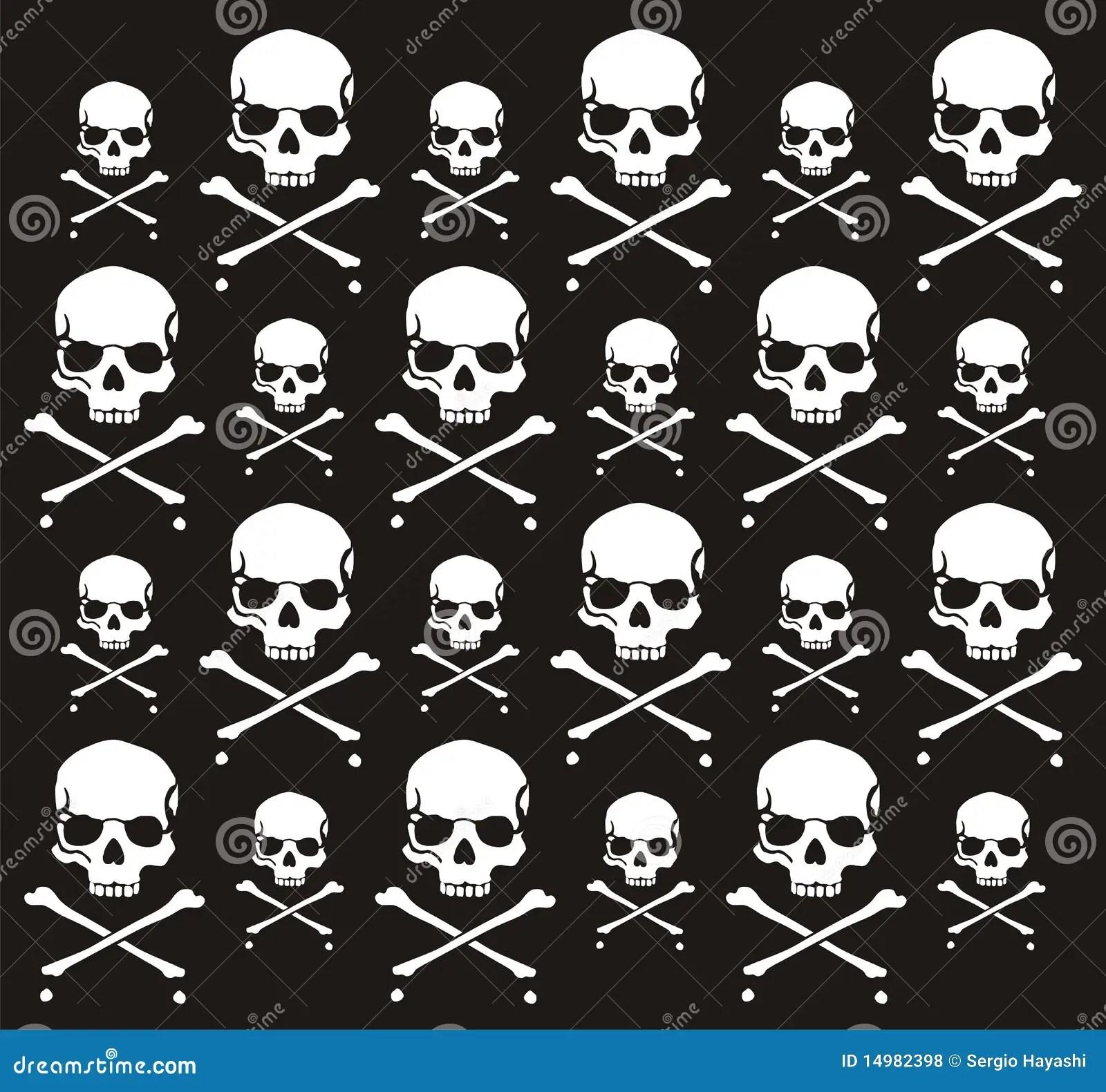 Skeleton Pattern Wallpaper Cute Crossbones And Skull Pattern Royalty Free Stock Photos