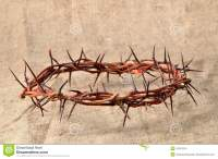 Crown Made Of Thorns On Burlap Stock Photo - Image of ...