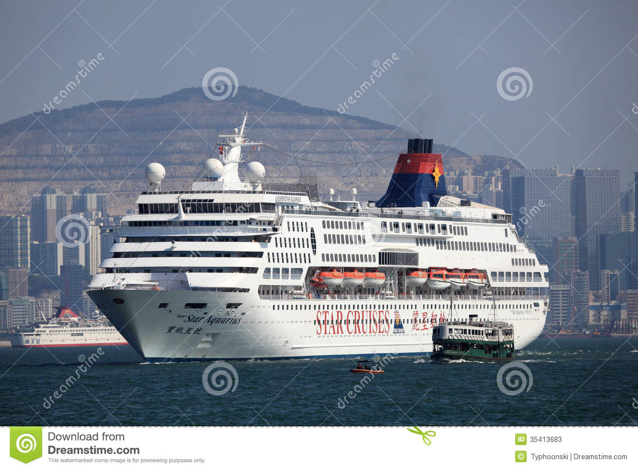 Hong Kong Ferry Vector Image Auto Electrical Wiring Diagram Raypak 1529 Cruise Ship In Editorial Stock Photo