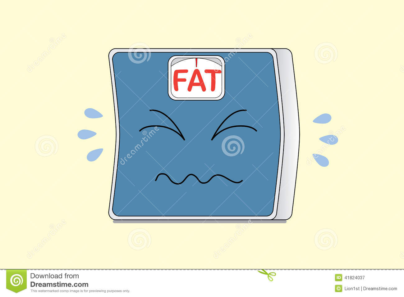 Weight Scales Big W Crying Weight Scale Stock Photo Image 41824037