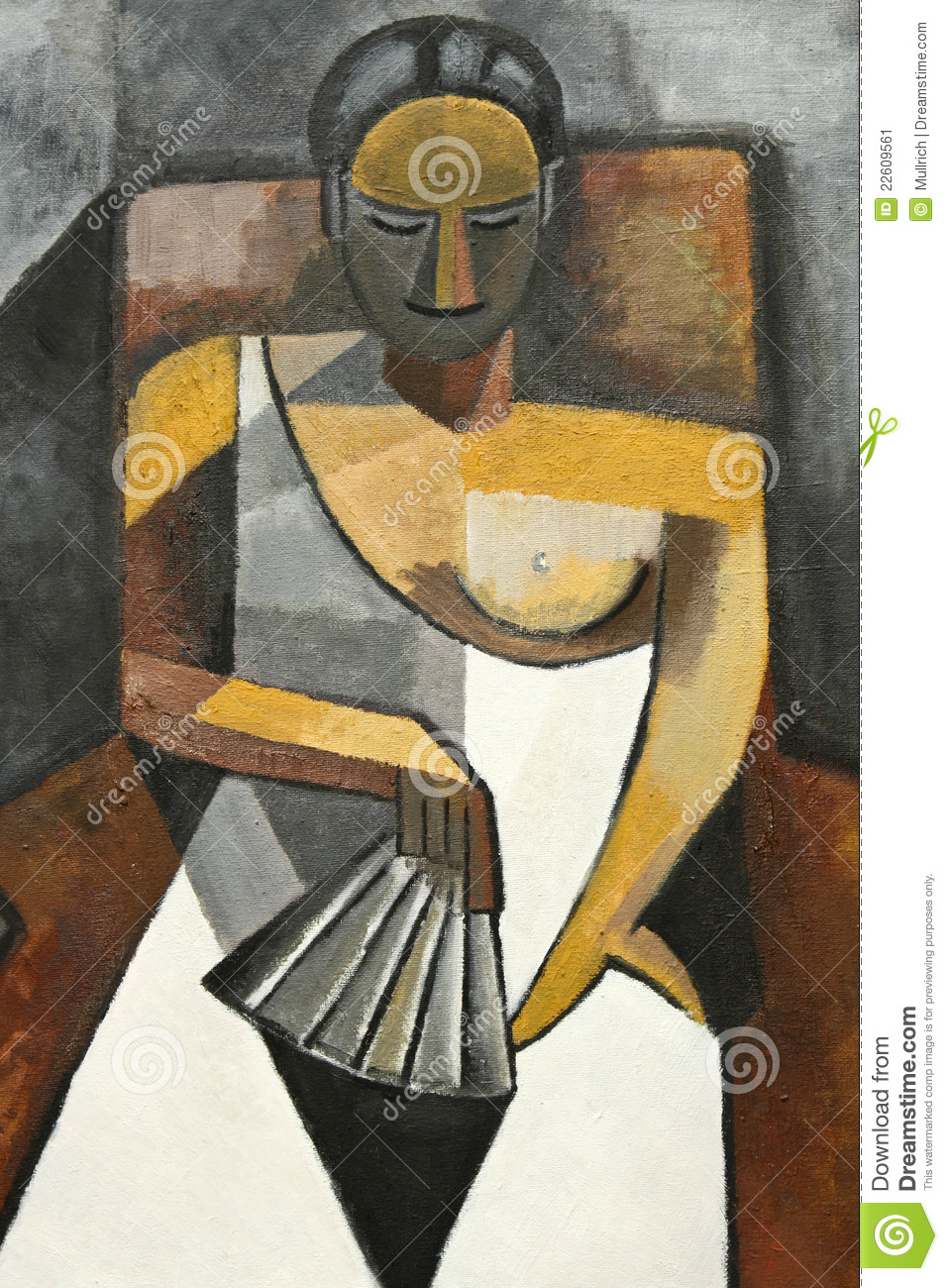 Kubisme Pablo Picasso Cubism Painting Of Woman In Chair Stock Image Image Of Woman