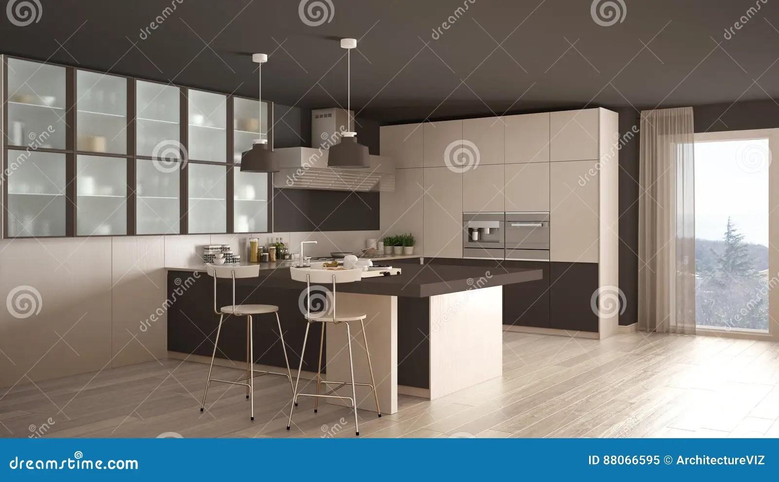 Cucina Bianca E Nera Classica   Cucina Bianca Classica Illustrazione ...