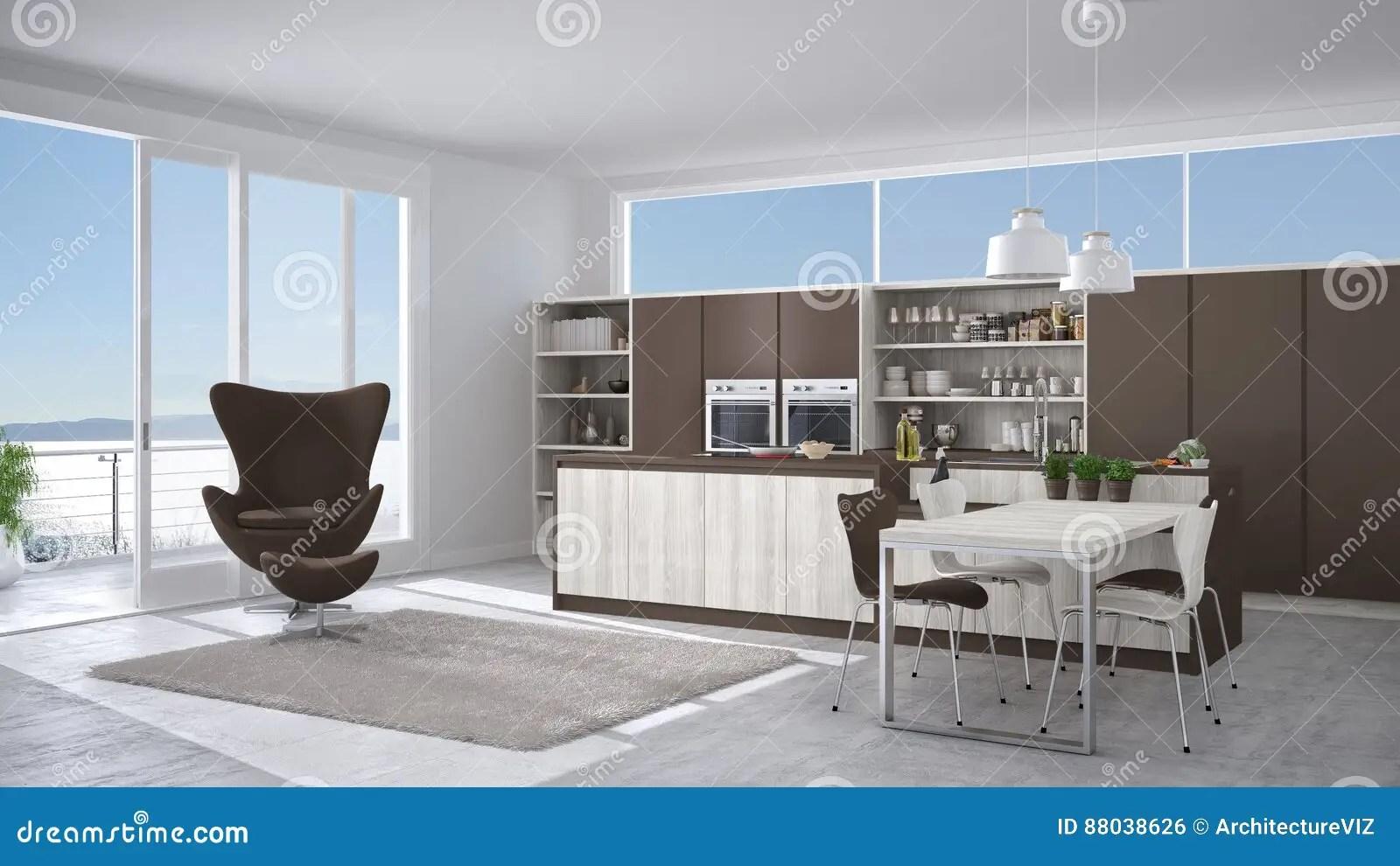 Credenza Moderna Marrone : Cucina moderna bianca e marrone credenza usata
