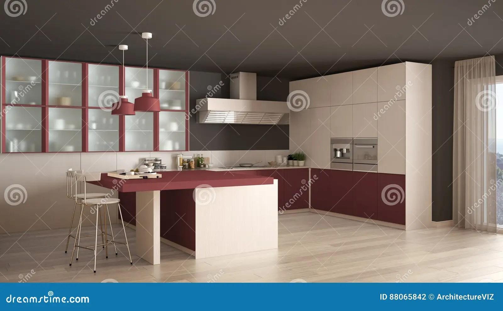 Cucina Bianca E Rossa Moderna | Cucine Scavolini