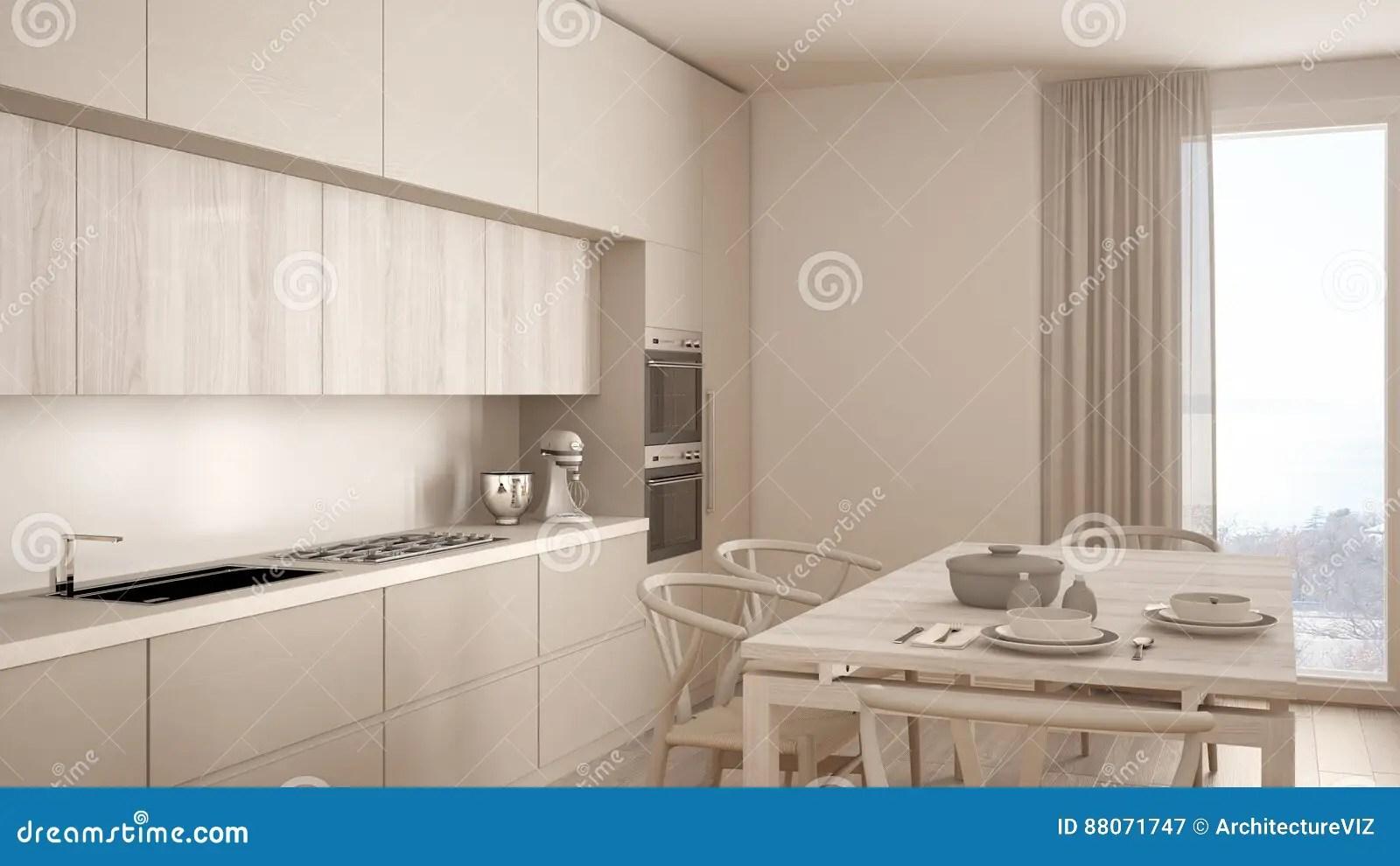 Cucina Bianca Legno Moderna | Cucina Moderna Bianca E Legno Amazing ...