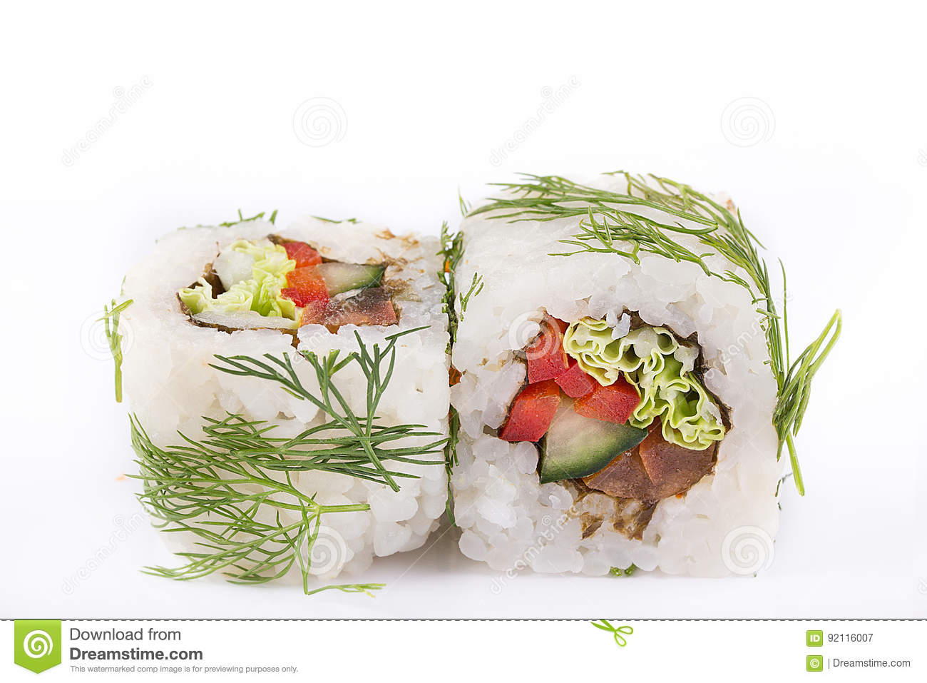 Cucina Giapponese Cinese Cucina Giapponese Sushi Messo Rotolo Vegetariano Con Paprica Il