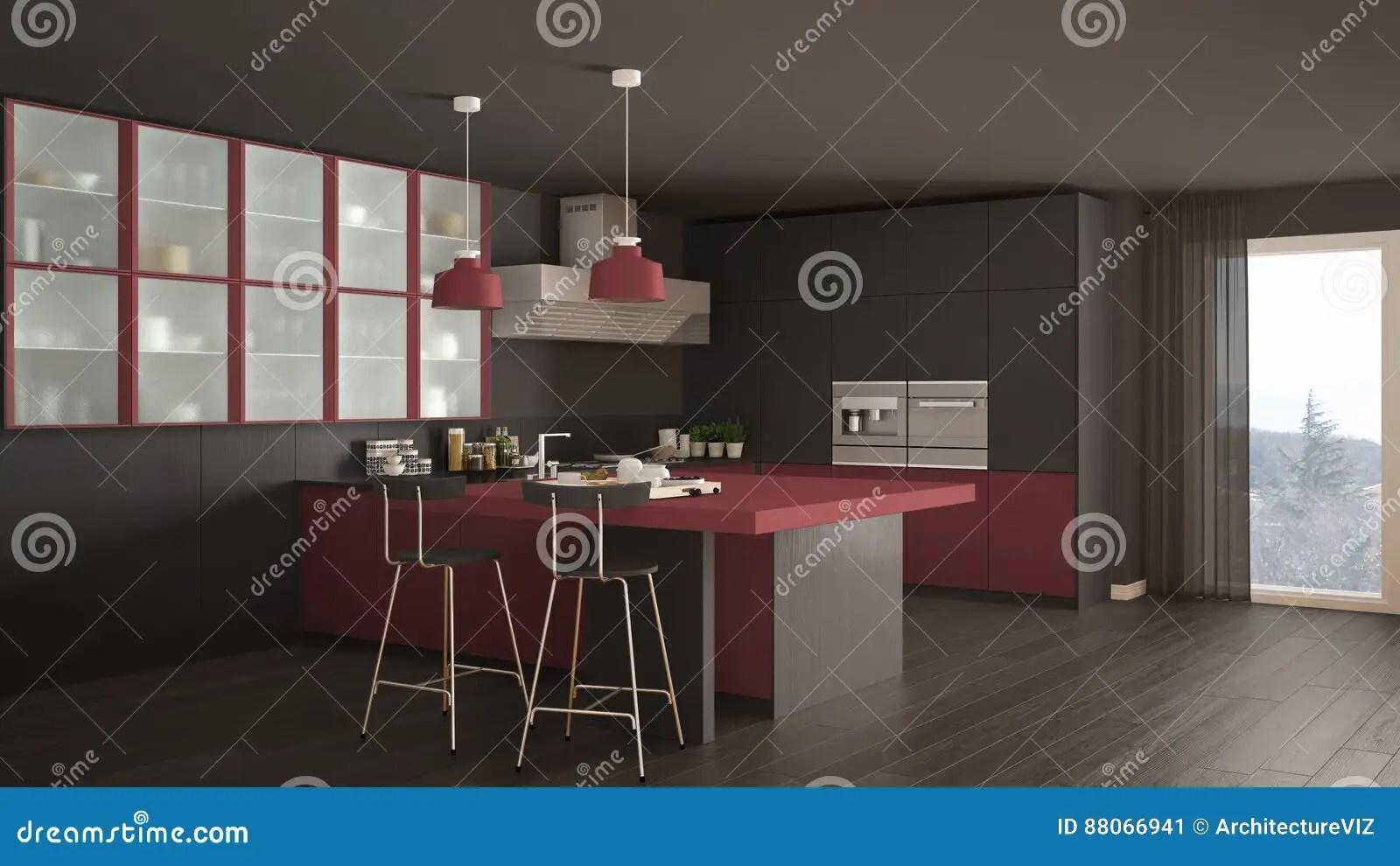 Cucina Rossa Piastrelle   Cucina Rossa Lineare