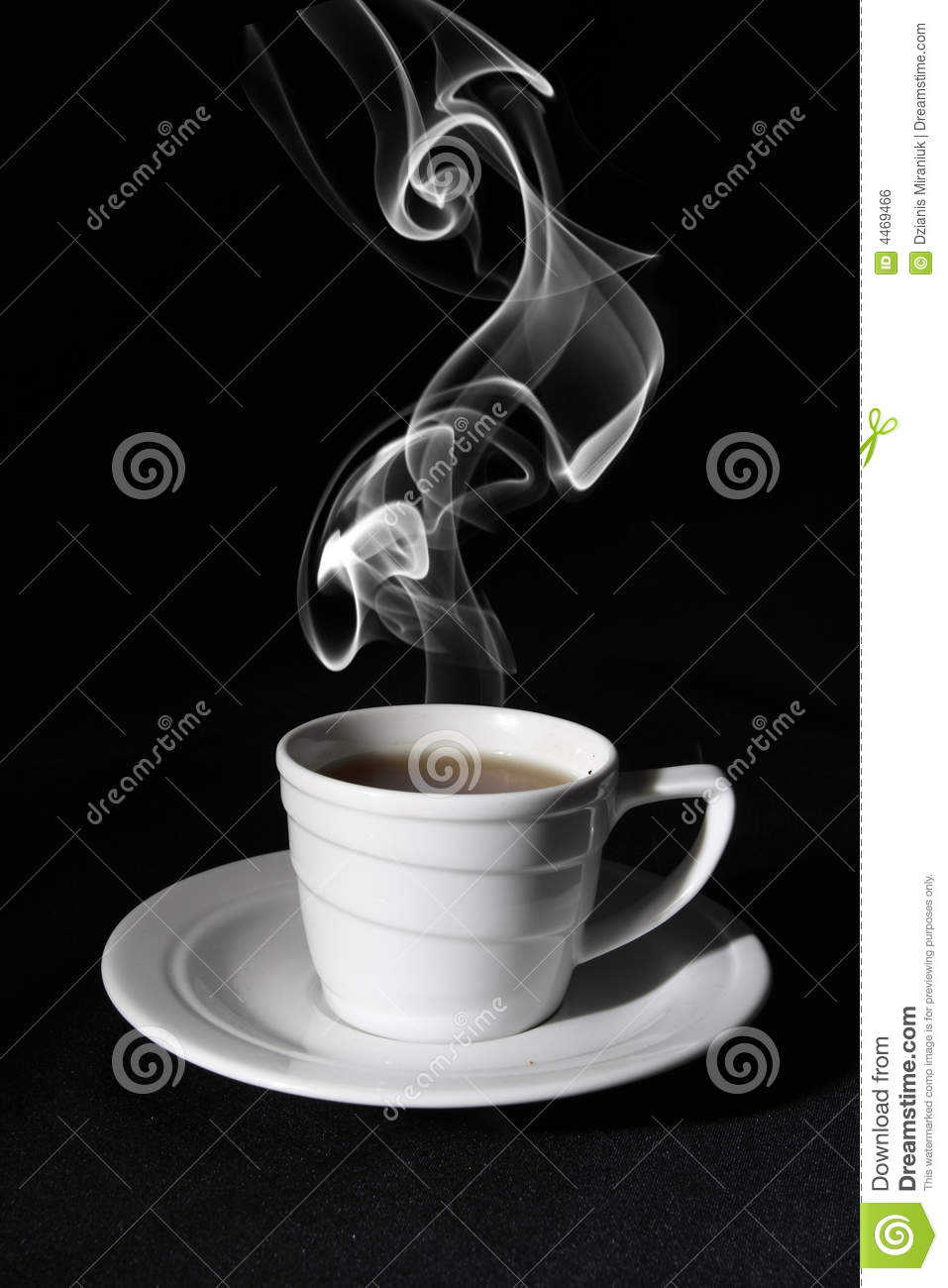Espresso Coffee Cup Black Coffee, Steam Stock Photo. Image Of Fragrant