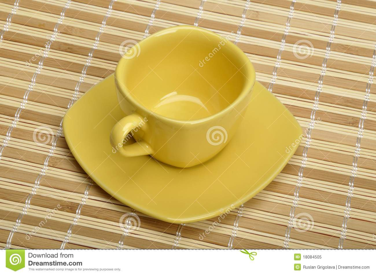 Cup Mat Cup On The Mat Royalty Free Stock Photo Image 18084505