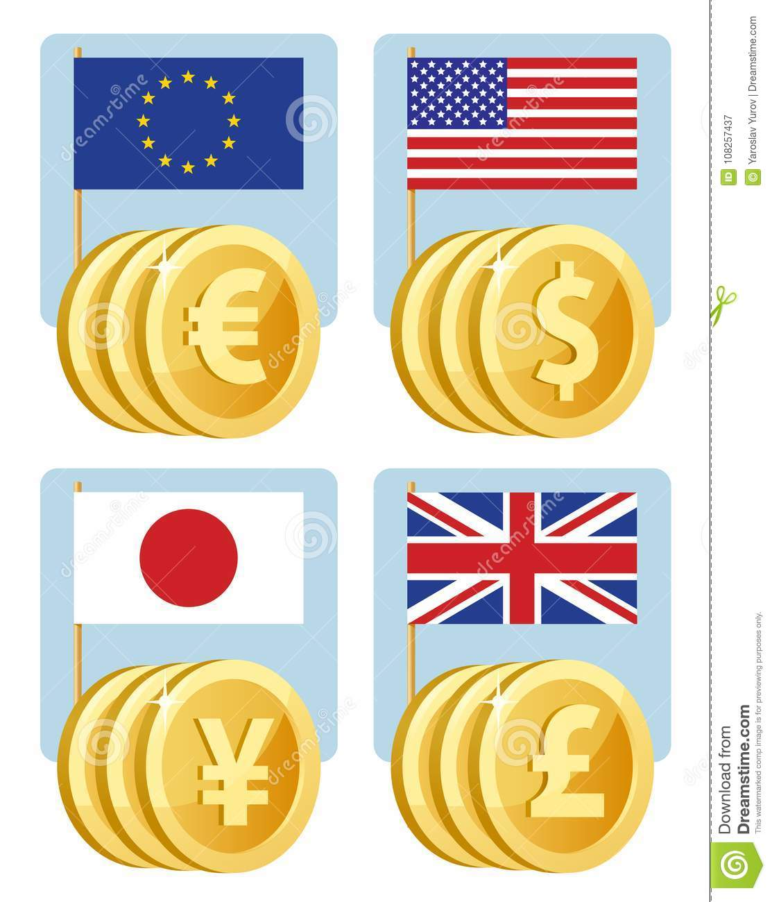 Libra A Euro Currency Symbols Euro Dollar Yen Pound Sterling Flags Of Th