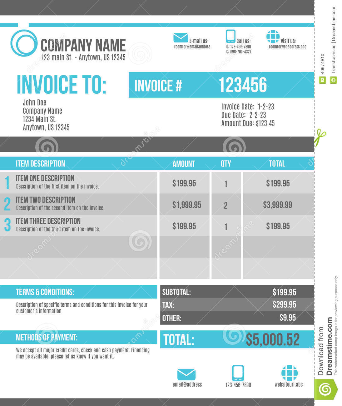 Invoice Tracking Excel Template Invoice Tracker Template Customizable Invoice Template Design Stock Vector Image