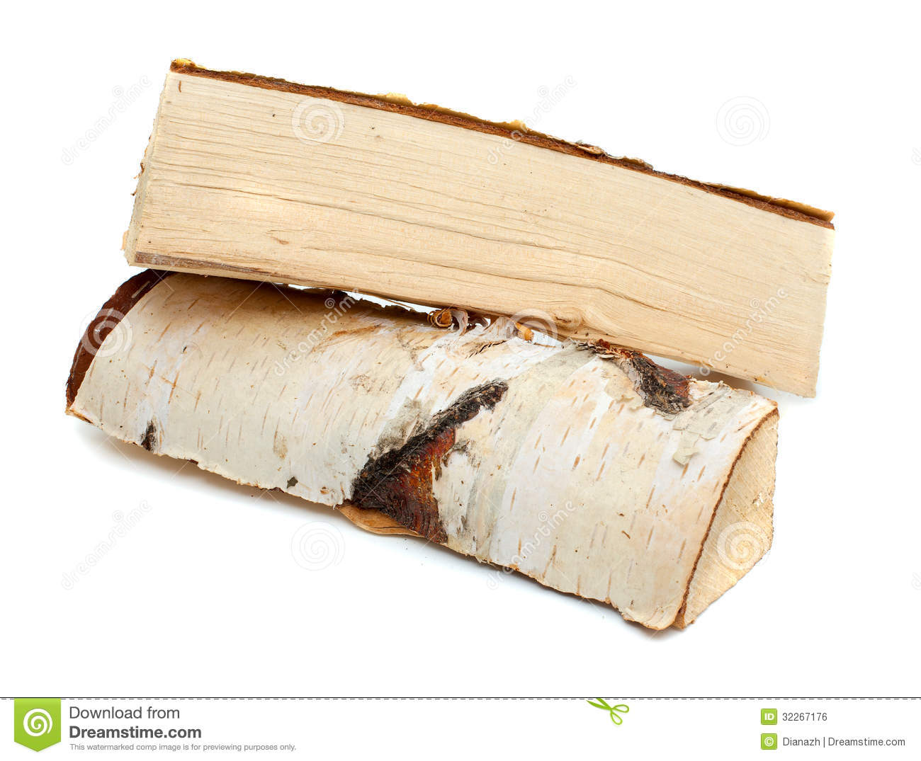 Birch Wood Fireplace Logs Cut Logs Of Fire Wood Royalty Free Stock Image Image