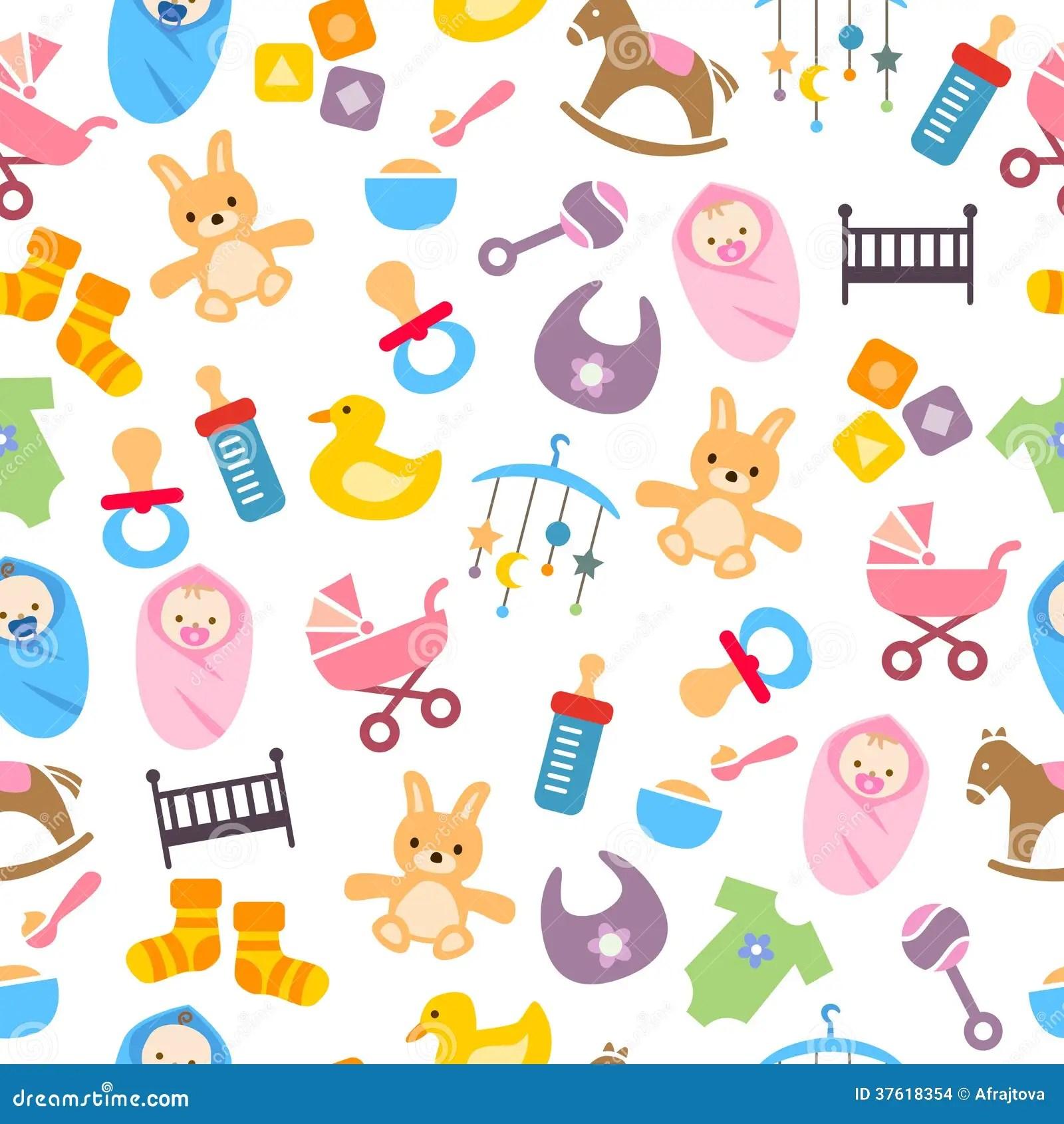 Baby Girl Nursery Wallpaper Borders Cute Baby Pattern Stock Vector Illustration Of Horse