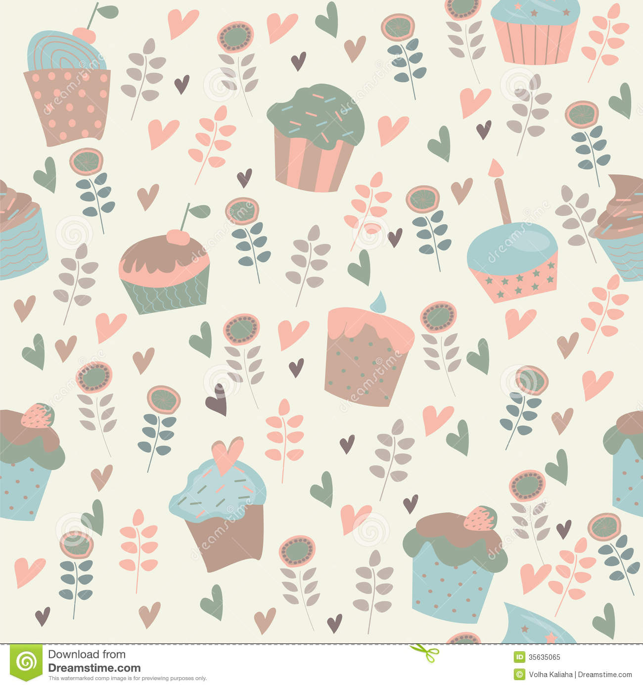 Fall Themed Iphone Wallpapers Cute Background With Cupcakes Royalty Free Stock Photo